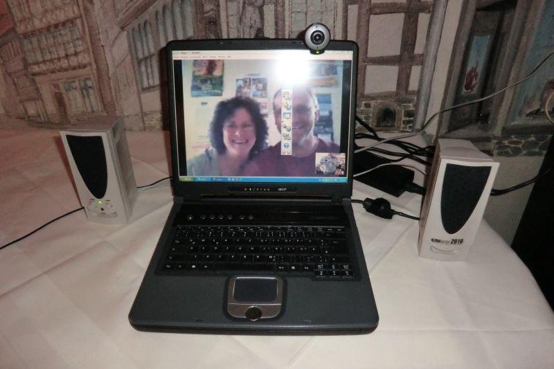 Liveschaltung nach Neuseeland via Notebook und Skype