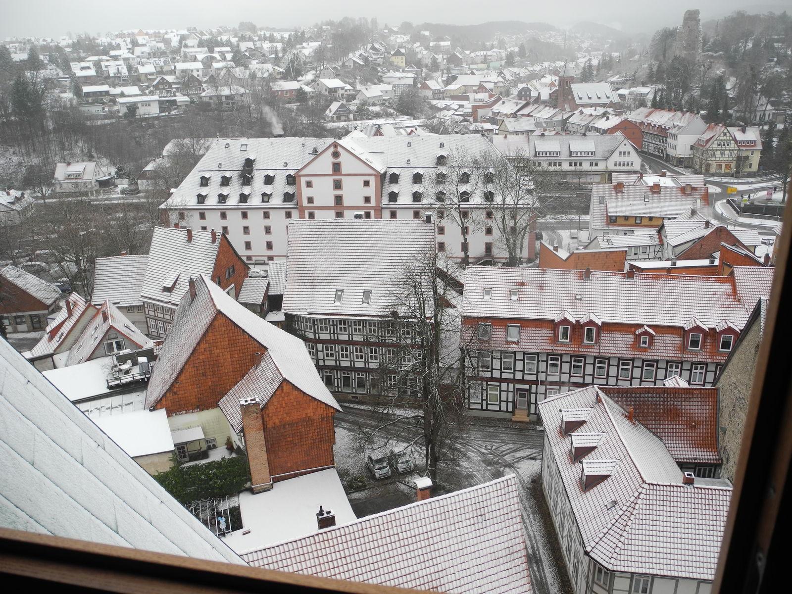Stadtführung Osterode am Harz mit Kirchturmbesteigung - Blick auf das Osteroder Kornmagazin