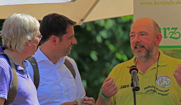 Vorstellung Deutscher Wandertag 2014 am Hohnehof zum 10-jährigen Jubiläum des Harzer Hexenstieges